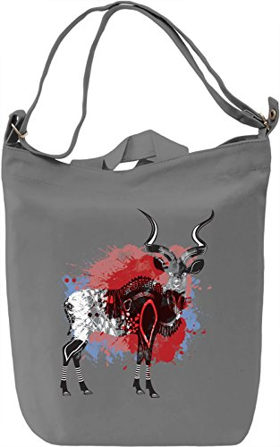 Splash Antelope Borsa Giornaliera Canvas Canvas Day Bag| 100% Premium Cotton Canvas| DTG Printing|