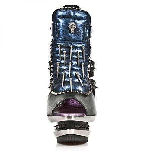 New Rock Boots M.rocks302-r3 Gotico Hardrock Punk Damen Highheels Schwarz