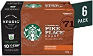 Starbucks Pike Place, Medium Roast Coffee, Single Serve Keurig Certified Recyclable K-Cup Pods for Keurig Brew