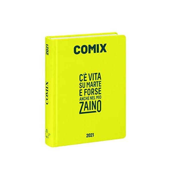 Comix - Diario 2020/2021 16 Mesi - Yellow neon - Mini 1 spesavip