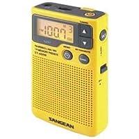 Sangean DT-400W AM/FM Digital Weather Alert Pocket Radio, NOAA Weather/Emergency Alert, Digital AM/FM Tuner, 19 Random Presets, Belt Clip, My Favorite Station, Select Button, Auto Seek Station