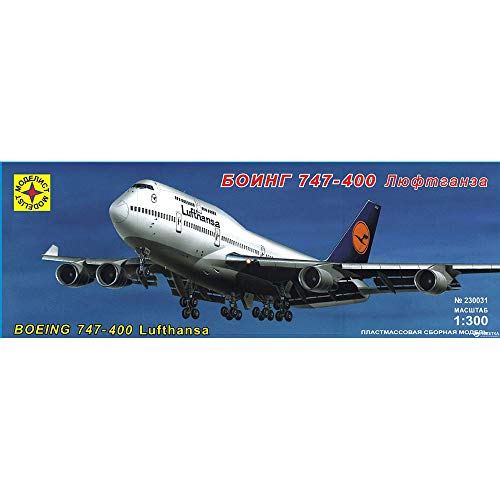 Boeing 747-400 Lufthansa American Jet Airliner Russian Model Kits Scale 1:300 (Boeing Jet Lufthansa)