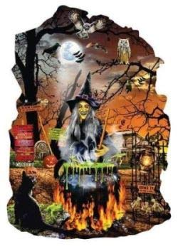 Witch's Brew Shaped 1000 Piece Jigsaw Puzzle by SunsOut - Halloween Theme -