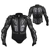 Volwco Chamarra protectora de motociclismo, de motocross, profesional, protector de armadura de cuerpo completo, protector de pecho, hombro, espalda, columna, para hombre, mujer, para ciclismo de montaña, patinaje, snowboarding (Negro, XXXL)