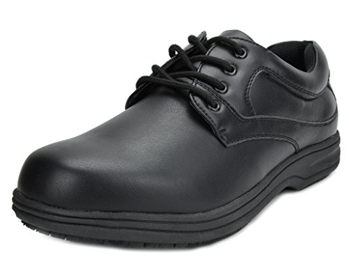Mens Oxford Work Shoe (DREAM PAIRS Men's Shack-1 Black Oil Resistant Restaurant Oxfords Work Shoes - 9.5 M US)
