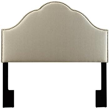 Amazon Com Pulaski Selma Camel Back Linen Panel Headboard