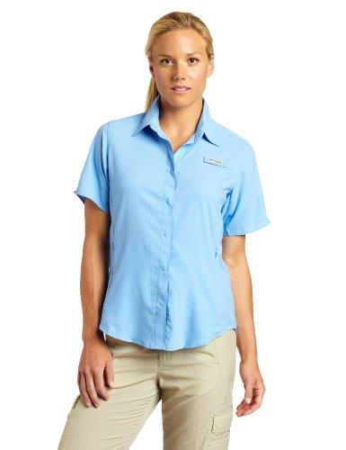 Columbia Women's Tamiami II Short Sleeve Fishing Shirt (White Cap, X-Large) (Sportswear Short Sleeve)