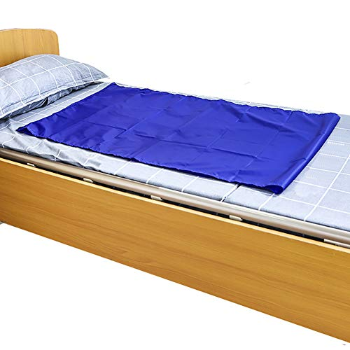 Reusable Flat Slide Sheet for Patient Transfer, Turning, and Repositioning in Beds, Hospitals and Home Care, Sliding Draw Sheets to Assist Moving Elderly and Disabled (Blue, 110X70 ()