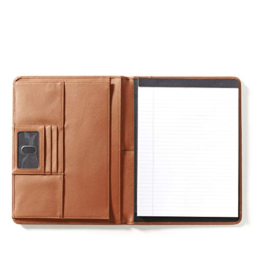 Leatherology Deluxe Portfolio - Full Grain Leather - Cognac (brown)