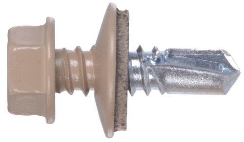 The Hillman Group 48054 14 X 7/8-Inch Tan Painted Head Lap Stitch Screw, - Lap Stitch