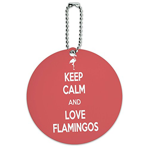 Flamingos Round Luggage Suitcase Carry