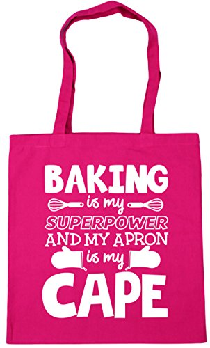 Shopping is HippoWarehouse Baking cape and Bag my litres Fuchsia Tote Beach 10 apron Gym is x38cm 42cm superpower my rrwfYx
