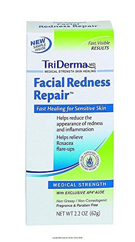 TriDERMA® Facial Redness RepairTM-Packaging: 2.2 oz Tube - UOM = Each 1 (Triderma Redness Facial Repair)