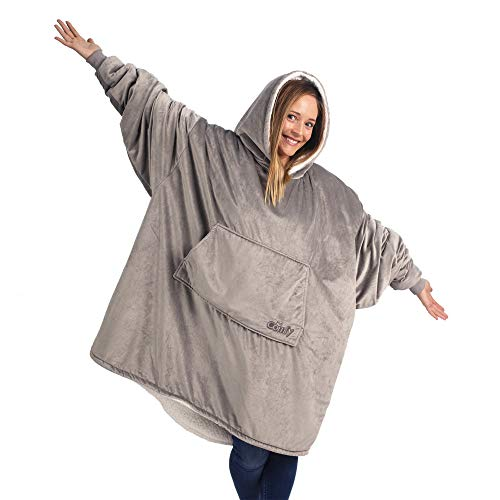 THE COMFY: Original Blanket Sweatshirt, Seen on Shark Tank, Invented by 2 Brothers, Warm, Soft, Cozy, Wearable Sherpa Hoodie, Multiple Colors, One Size Fits All, Adults, Men, Women, Teens, Friends (4th Of July T Shirts To Make)