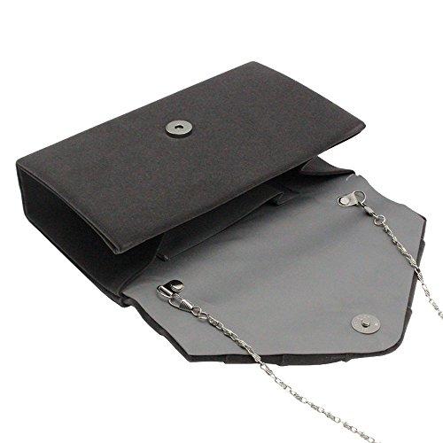 Bag Envelope Grey Pleated Evening Dark Clutch Faux Bridal Green Wedding Cckuu Suede Womens Party qEvgg