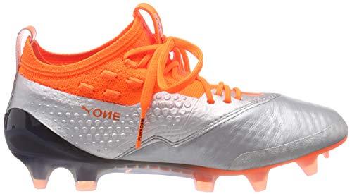 Silver puma Calcio Black Scarpe 1 One Lth ag shocking Bambini 01 puma Puma Orange Unisex Jr – Da Argento Fg AS6yqAc4