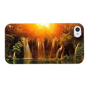 LZXBeautiful Waterfall Views Pattern ABS Back Case for iPhone 4/4S
