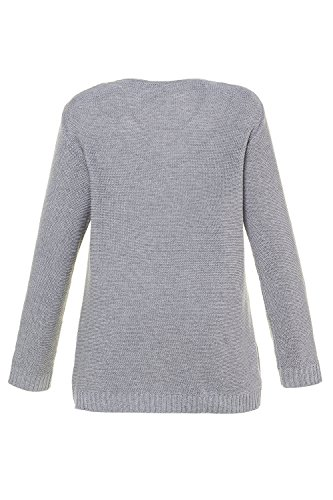 Femme Tailles Gris Popken Pull Chin V Grandes 715141 Clair Ulla gqU6Cw5