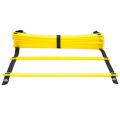 GJT Fitness Agility Ladder Adjustable Durable Training Flat Rung for Soccer,Speed,Football with Carry Bag (12 Rung)