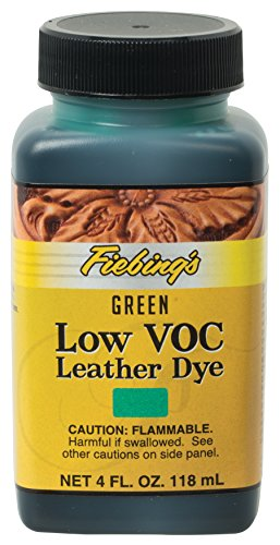Fiebing's Low VOC Leather Dye, Green, 4 oz.