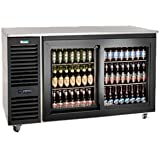 Krowne Metal SD60L Sliding Door Refrigerated Back Bar Storage Cabinet