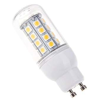SODIAL(R)GU10 5W 5050 SMD 36 LED Maiz Bombilla Lampara Ahorro de energia 360 grados Blanco caliente 220-240V: Amazon.es: Iluminación