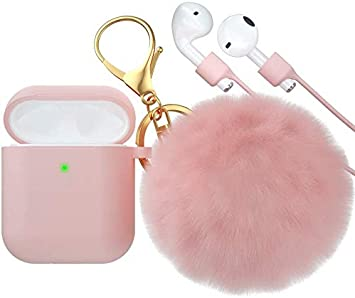 Amazon Com Brg For Airpods Case Soft Cute Silicone Cover For