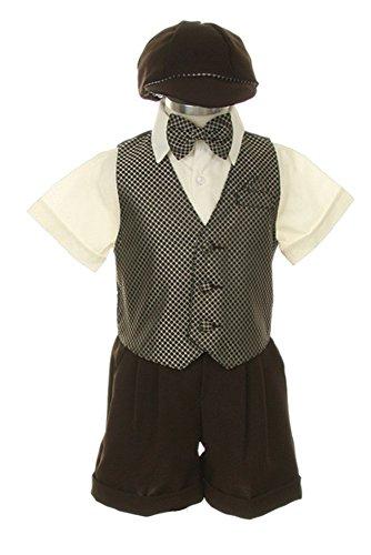 SK Dress Suit Outfit Set-Shorts,Bowtie,Vest, Short Sleeve...