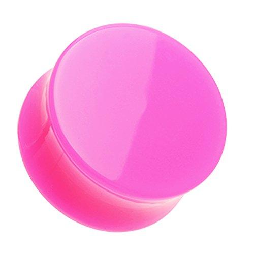 Pink Acrylic Plug - 8