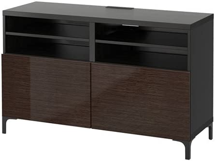 Ikea 12202.202611.238 - Banco de TV con Puertas, Color Negro y marrón: Amazon.es: Juguetes y juegos