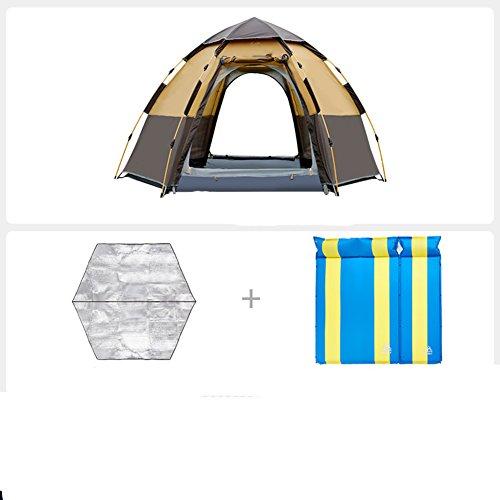 略す拍車手首TY&WJ 家族のテント 二重層 ドームテント 厚い 防雨 野外活動 登山 ティーピー 全自動 3-4 人