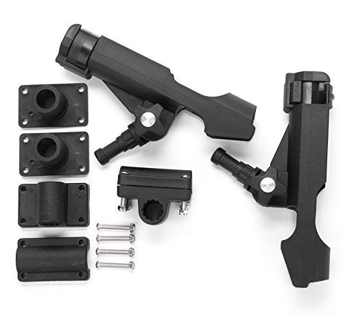 Bekith-2-Pack-Adjustable-Powerlock-Rod-Holder-with-Combo-Mount-Black-Finish