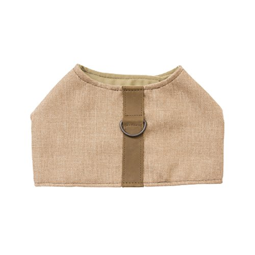 Durable & Soft Linen Dog Harness For Small Dogs Handmade by Hide & Drink :: Beige - Joque Harness