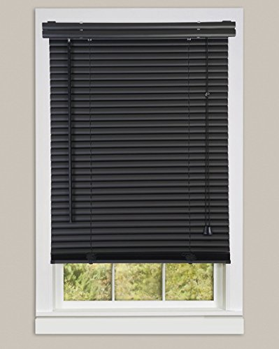 Achim Home Furnishings 1-Inch Wide Window Blinds, 27 by 64-Inch, Black