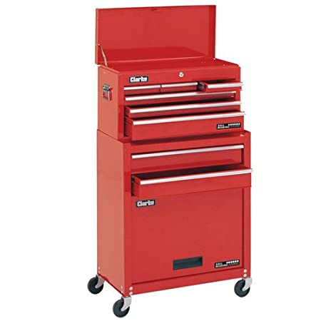 CLARKE 8 DRAWERS TOOL CHEST AND WHEELED CABINET CTC800B  sc 1 st  Amazon UK & CLARKE 8 DRAWERS TOOL CHEST AND WHEELED CABINET CTC800B: Amazon.co ...