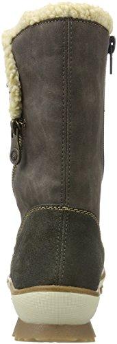 Remonte Ladies R4374 Snow Boots Grigio (cenere / Stromboli / Beige)
