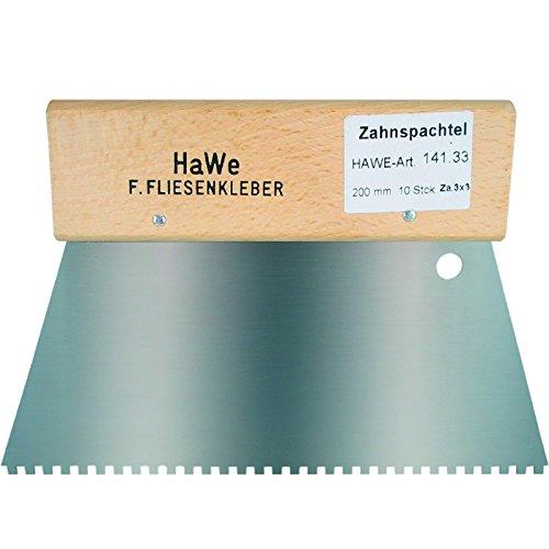 HaWe 141.33 ZAHNSPACHTEL 4-ECK 3X3 200 MM