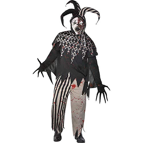 Amscan Twisted Jester Halloween Costume for Men, Plus Size, with Included Accessories