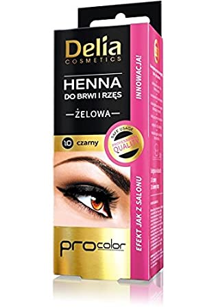 Amazon Com Delia Henna Eyebrow Tint Gel 1 0 Black 30ml Beauty