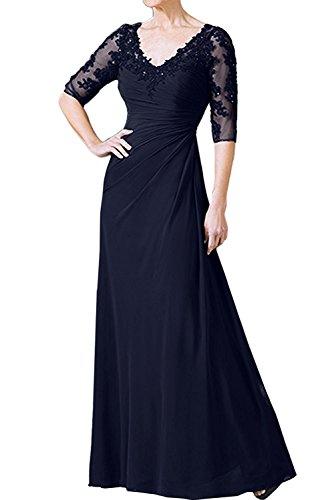 Abendkleider mia Partykleider Dunkel Fuchsia V Blau La Kleider Brautmutterkleider Braut Jugendweihe Dunkel Navy Ausschnitt Damen xFwdqd0aZ