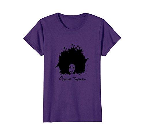 Womens Natural Dopeness African American Women Men Hoodie T-Shirt Medium Purple