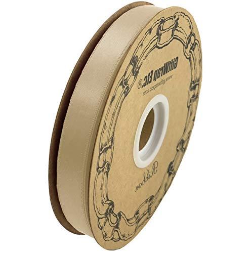 Werrox Champagne Satin Fabric Ribbon - 5/8
