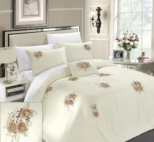 Chic Home Rosetta 5-Piece Comforter Set, King, Beige