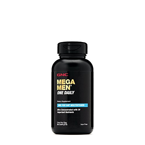 GNC Mega Men One Daily Multivitamin with 39 Important Nutrients - 60 Caplets by GNC