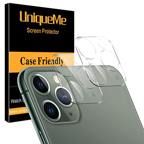 [ 2 Pack ] UniqueMe Camera Lens Protector for iPhone 11 Pro/iPhone 11 Pro Max [High Definition] Scratch Resistant from UniqueMe