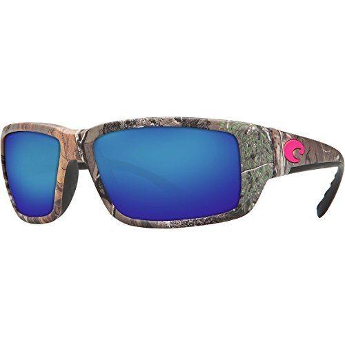 Costa Del Mar Fantail Realtree Xtra Camo Pink Logo Blue 400G Glass Polarized - Del Mar Costas Pink