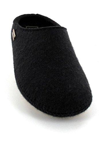 Haflinger 411006 Hausschuhe Filztofel P-Loft, schwarz, Gr 44