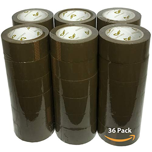 Universal Tan Packing Tape - 110 Yards Per Roll - 36 Rolls - 2