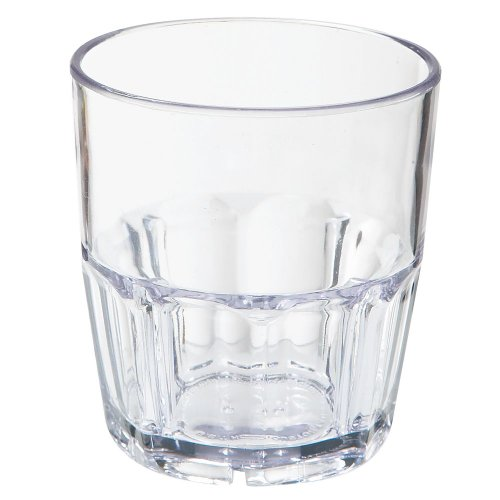 ama SAN Plastic 9 oz Double Rocks Glass - 72 / CS (Bahama Tumbler)