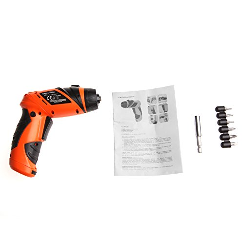 Hunulu Mini Portable 6V Screwdriver Electric Sets Drill Battery Operated Cordless Wireless with Bits Sets ()
